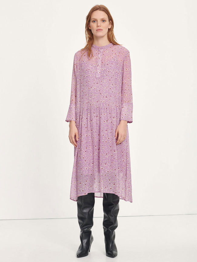 ELM SHIRT DRESS AOP - WISTERIA PURPLE
