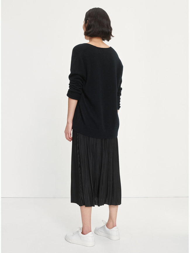 UMA PLEATED SKIRT - BLACK
