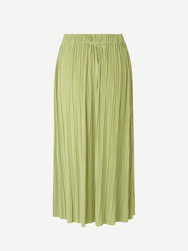UMA PLEATED SKIRT - TARRAGON