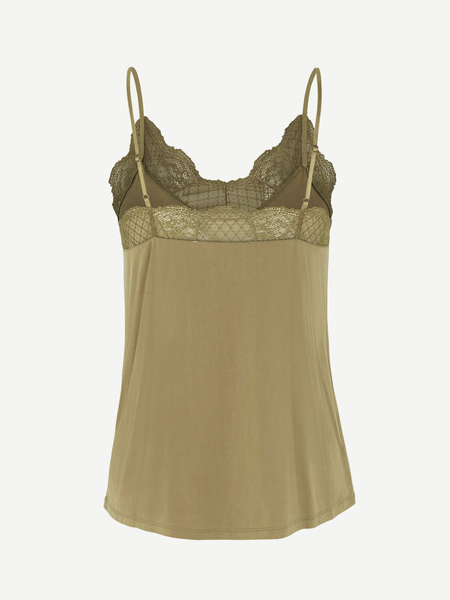 LINDA CAMI TOP - GREEN KHAKI