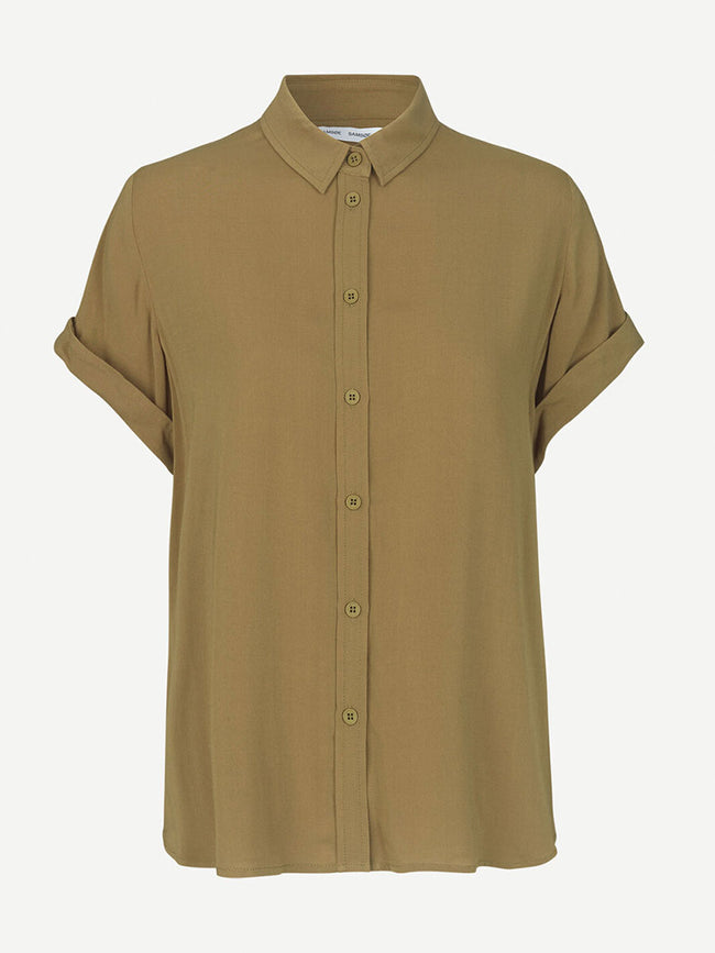 MAJAN SHORT SLEEVE SHIRT - GREEN KHAKI