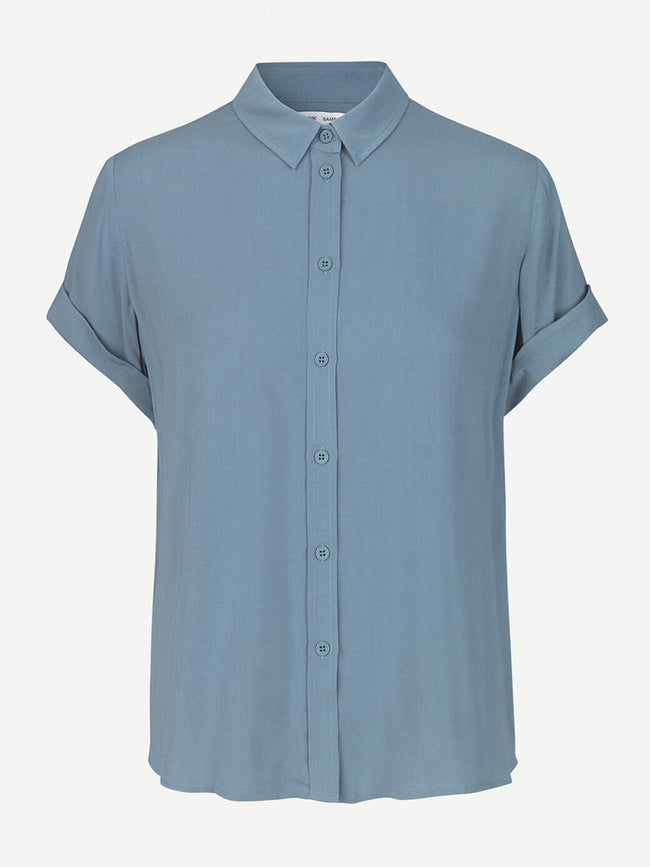 MAJAN SHORT SLEEVE SHIRT - BLUE MIRAGE