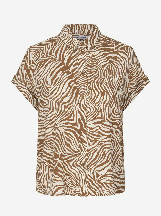 MAJAN SHORT SLEEVE SHIRT AOP - MOUNTAIN ZEBRA