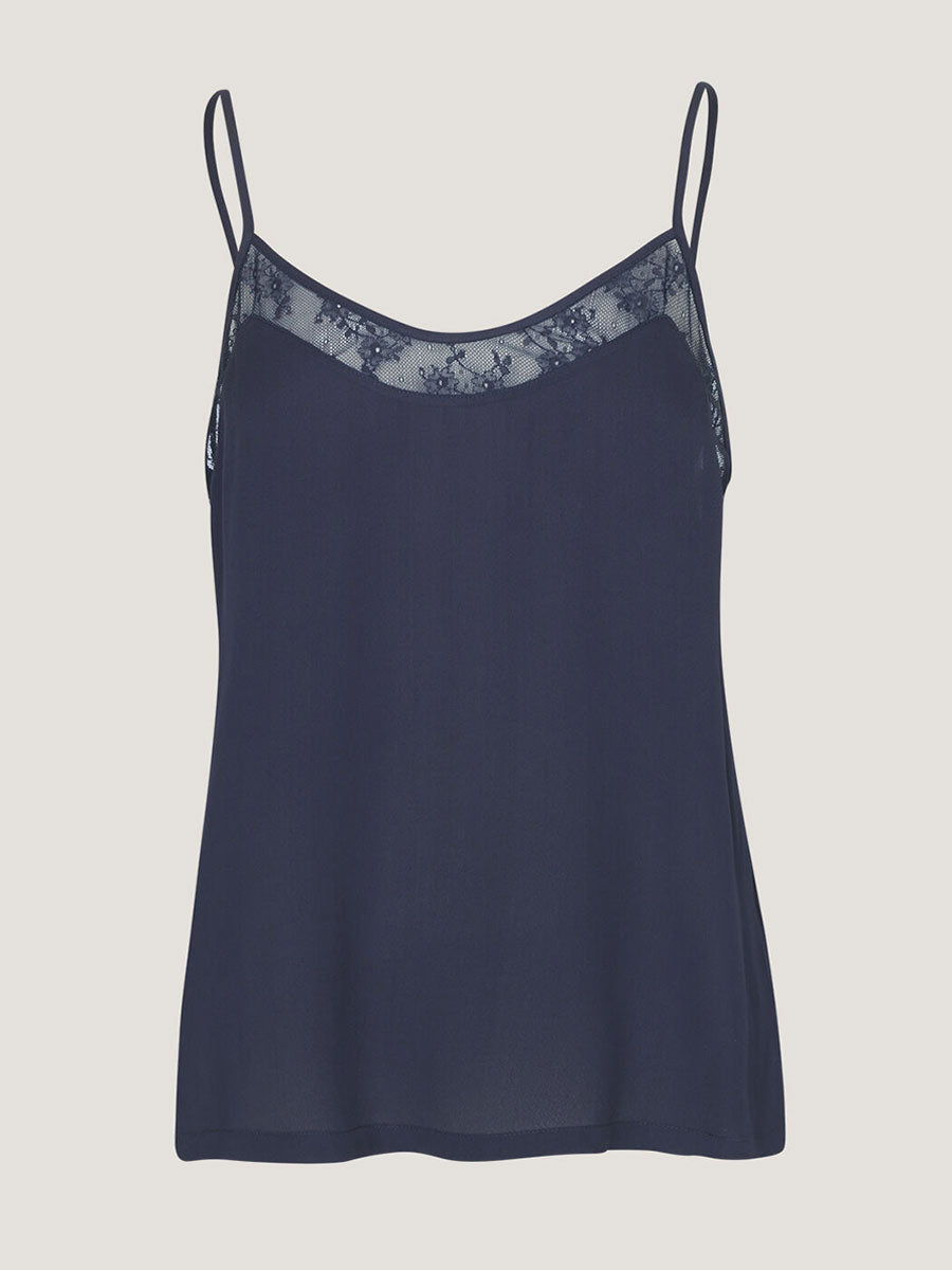 LACE CREPE SLIP TOP