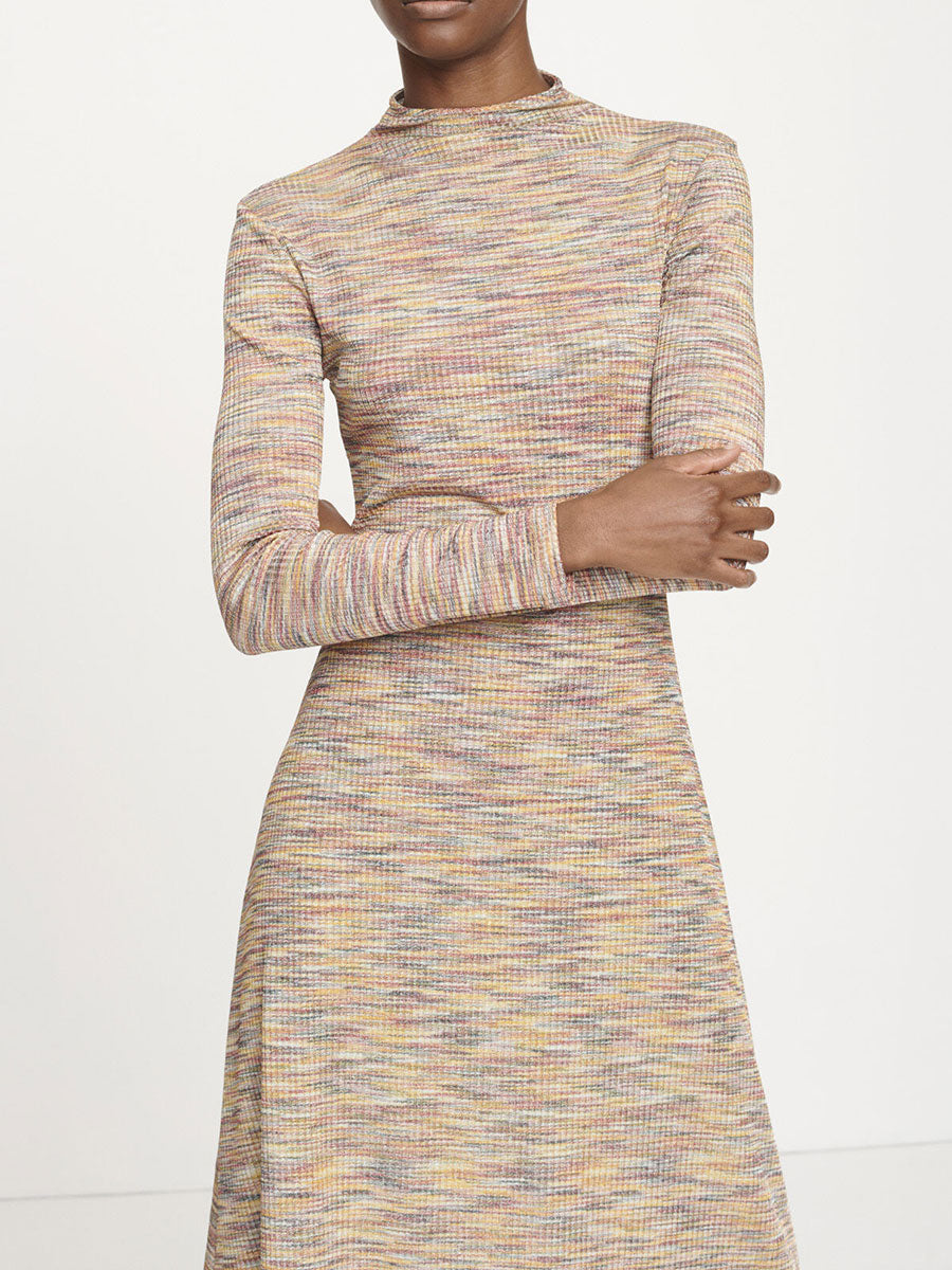 LYDIA MULTI SPACE DYE STRETCH DRESS