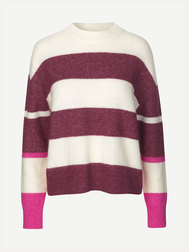 ANOUR CREW NECK JUMPER - MULTI STRIPE