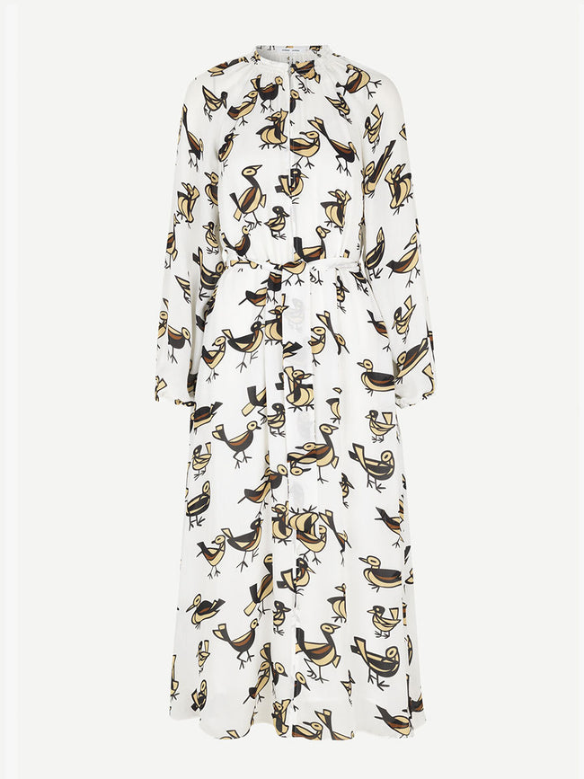 KAIA LONG DRESS - LOVEBIRDS