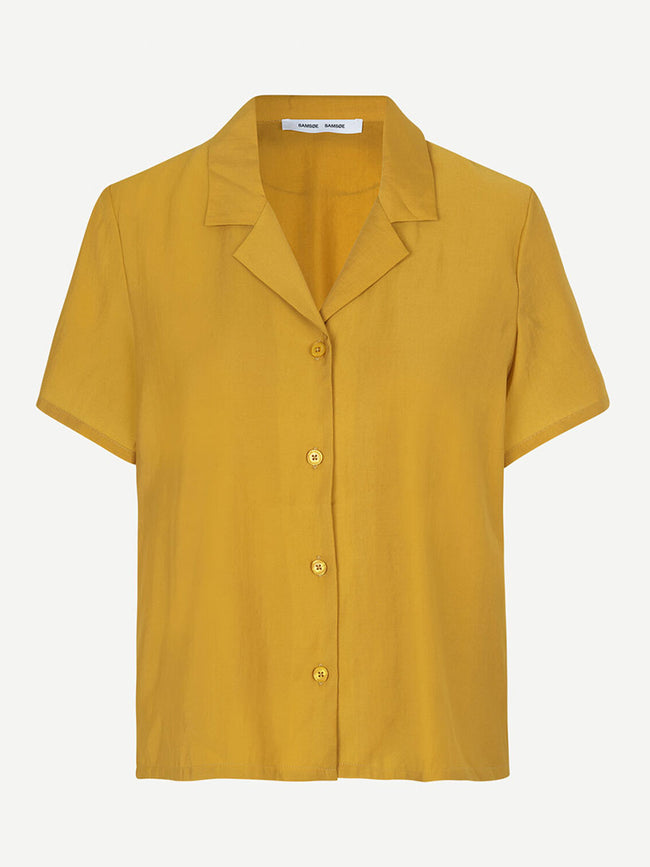 JONI SHORT SLEEVE SHIRT - HONEY