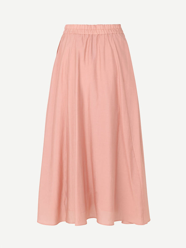 ENA P BUTTON DOWN SKIRT - MISTY ROSE