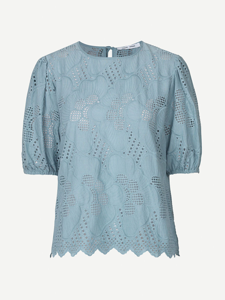 JUNI CUTWORK BLOUSE - TOURMALINE