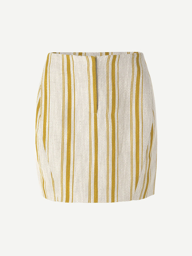 DICTE STRIPE MINI SKIRT - MINERAL ST