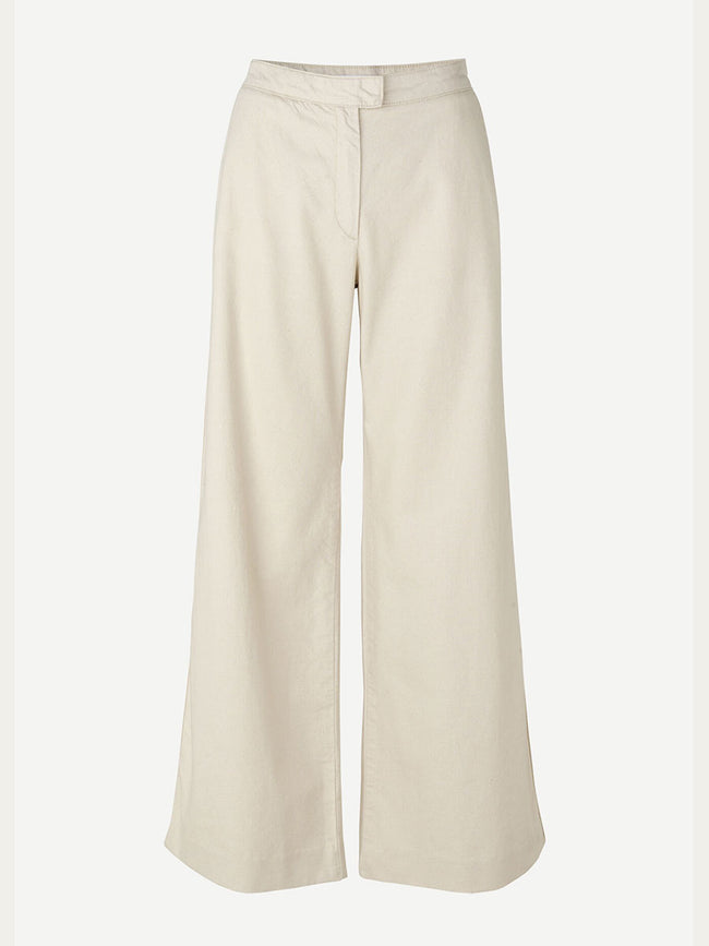 COLLOT WIDE LEG TROUSERS - WARM WHITE