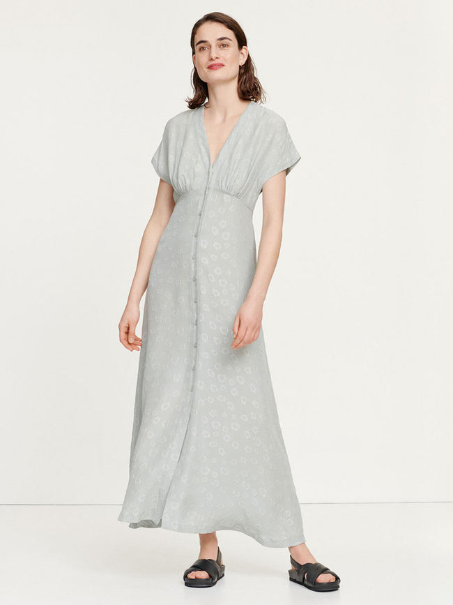 VALERIE LONG TEA DRESS - PALE PISTACHIO