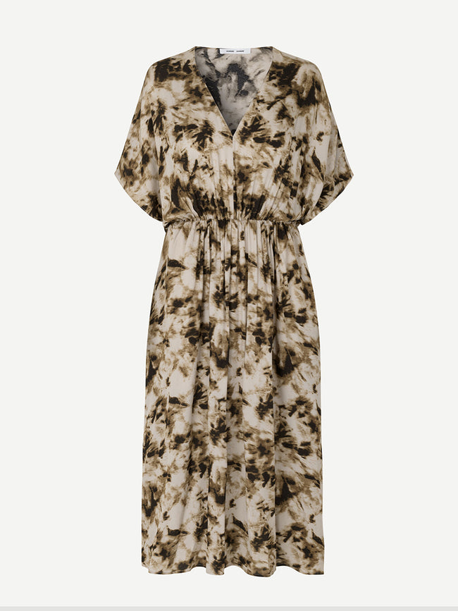 ANDINA LONG DRESS AOP - CAMO CLAY