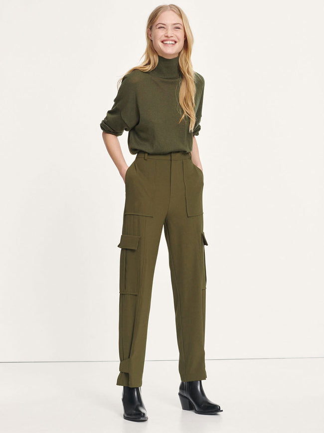 CITRINE CARGO TROUSERS - DARK OLIVE