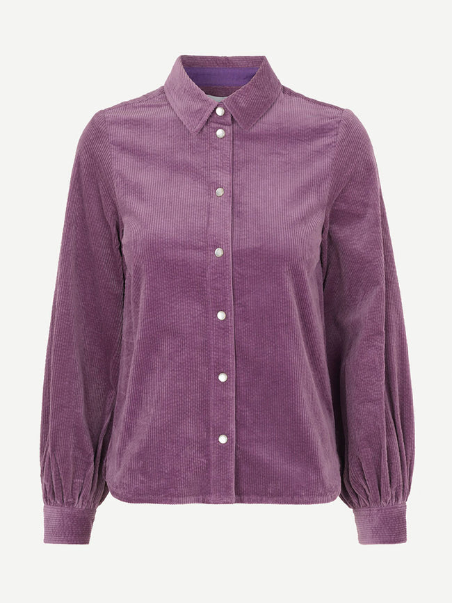 MOONSTONE CORDUROY SHIRT - PURPLE JASPER