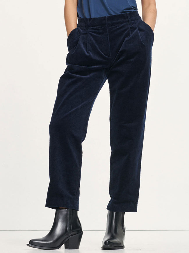 JULIANNA CORDUROY TROUSERS - SKY CAPTAIN