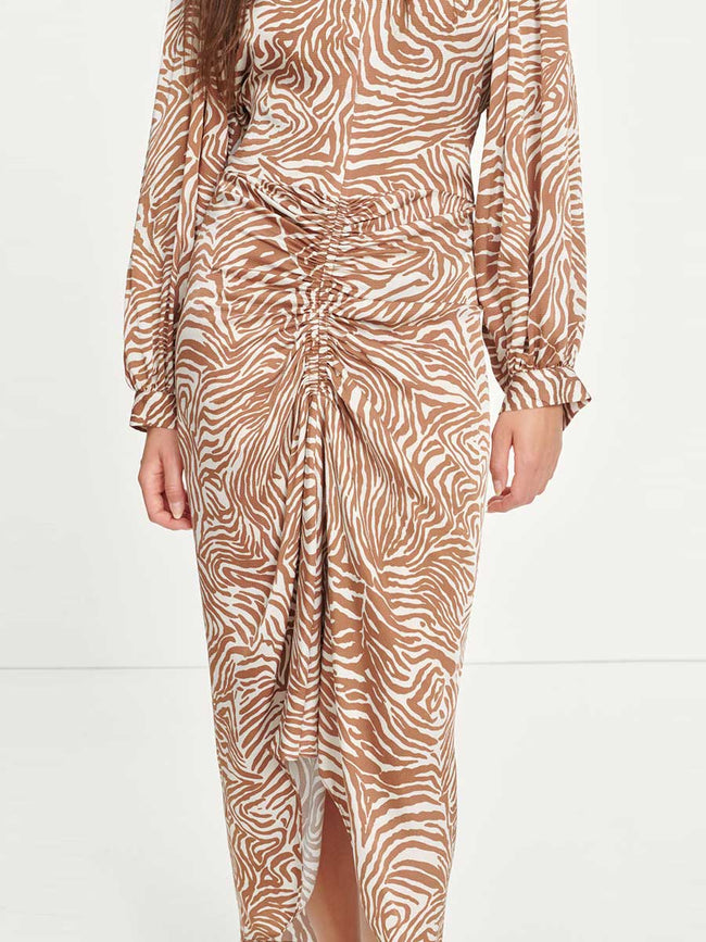 DAALIYA LONG DRESS - MOUNTAIN ZEBRA
