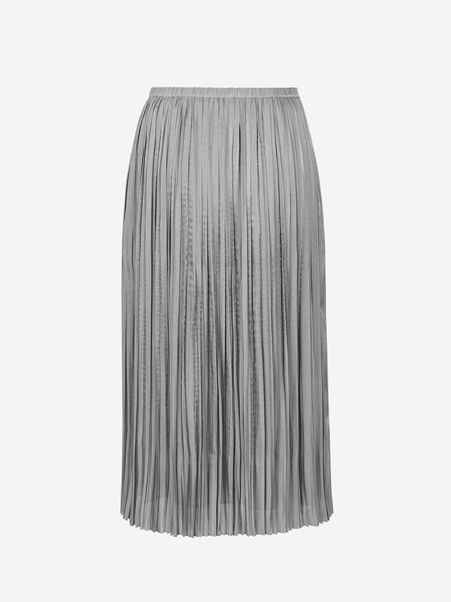 LISANN PLEATED SKIRT - FERN GREEN MEL