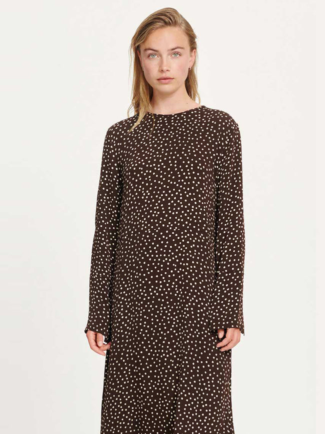RAMI DRESS AOP - COFFEE DROPS