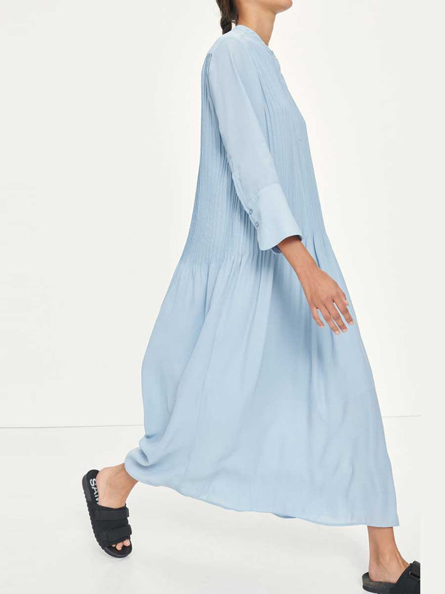 ELM ML DRESS - DUSTY BLUE