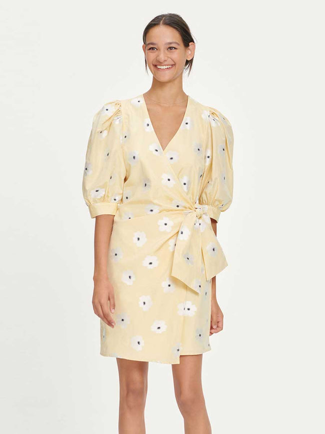 CELESTINA WRAP DRESS - SUN FLOWER