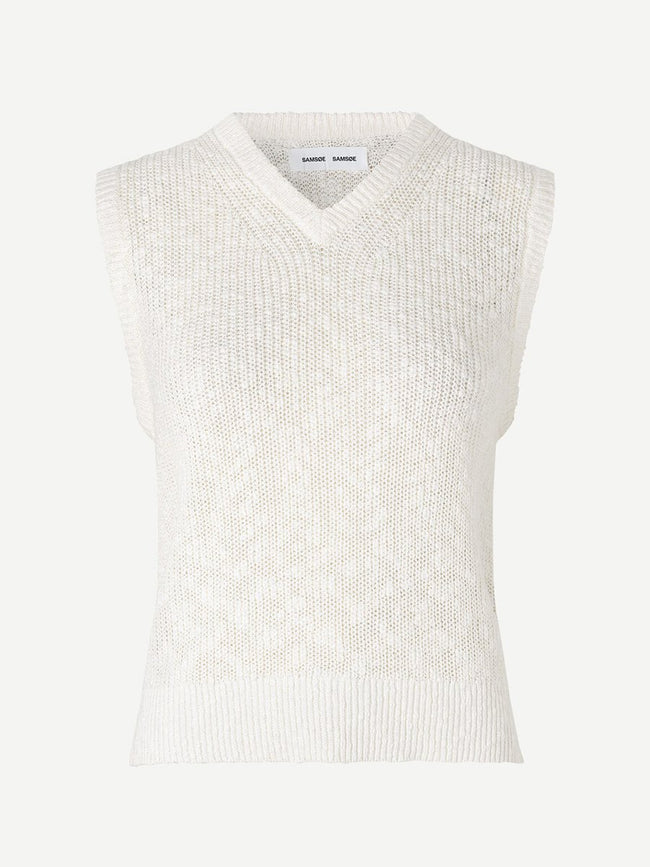 ZOEY V-NECK VEST - ANTIQUE WHITE