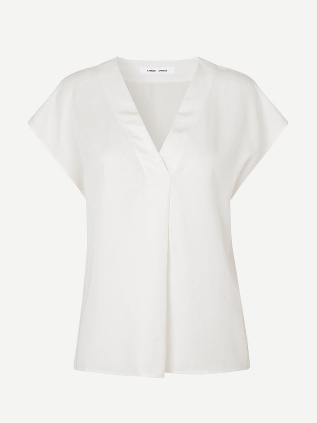 HIMILL SS BLOUSE - ANTIQUE WHITE
