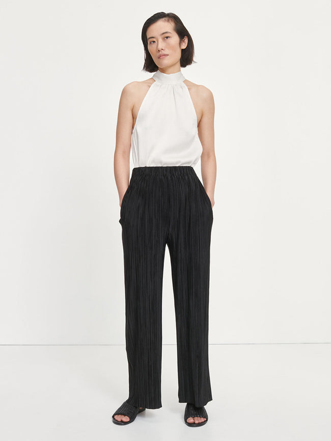 UMA PLEATED TROUSERS - BLACK