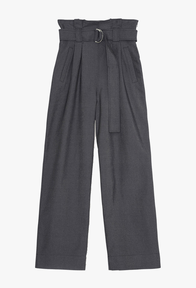 CHINO BELT TROUSERS - PHANTOM