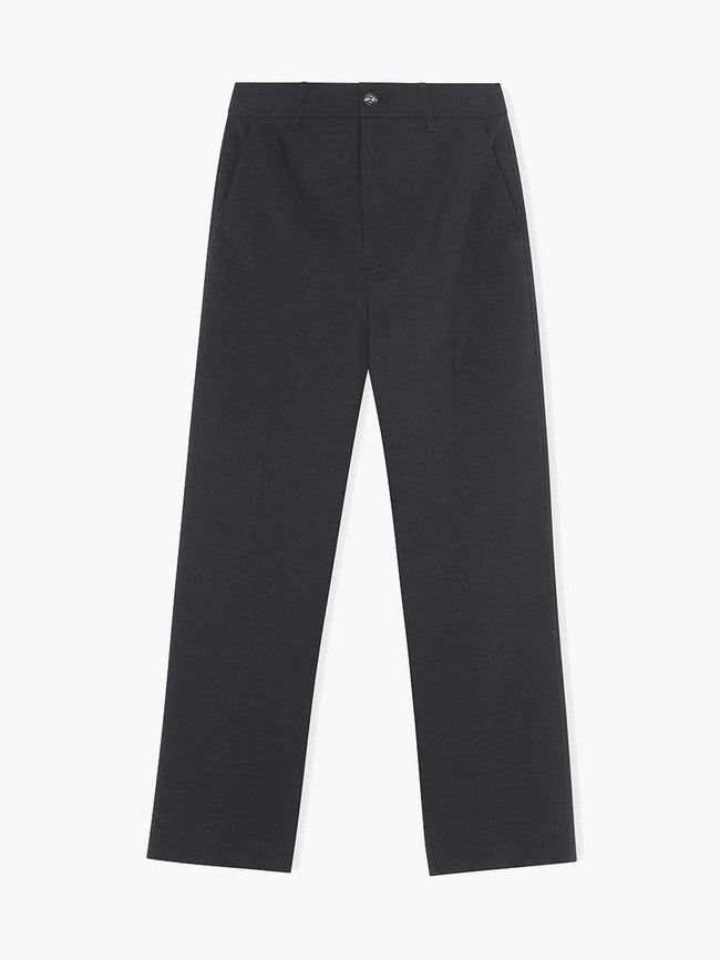 HEAVY CREPE TROUSERS - BLACK