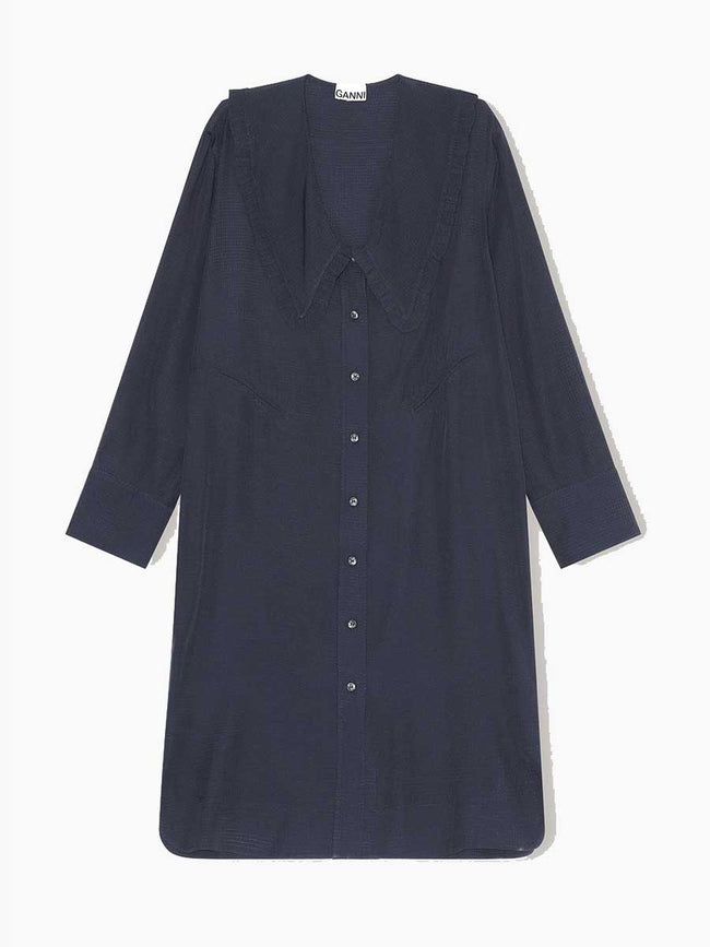 RIPSTOP ECOVERO OVERSIZED SHIRT - SKY CAPTAIN
