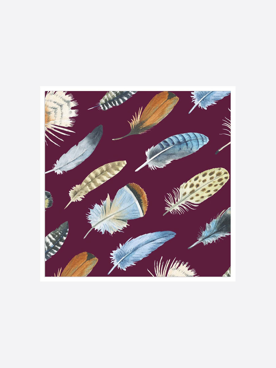 FEATHER NAPKINS - AUBERGINE