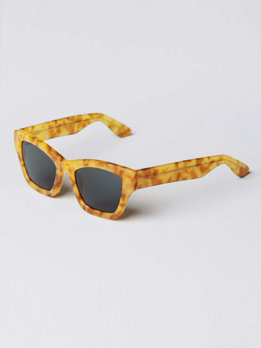 BRICK TORCH GOLDEN RETRO SUNGLASSES