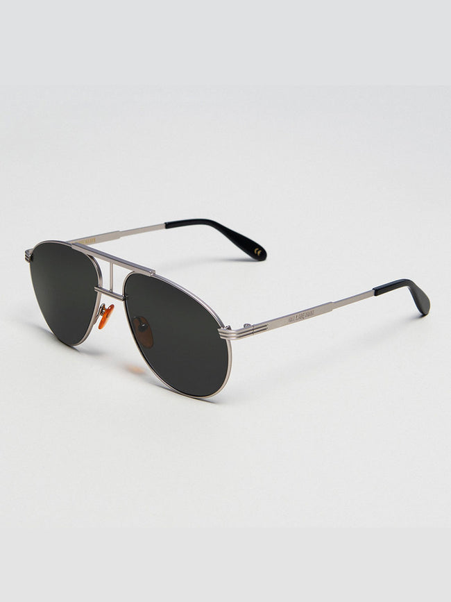 HIGH AVIATOR SUNGLASSES - MATTE SILVER