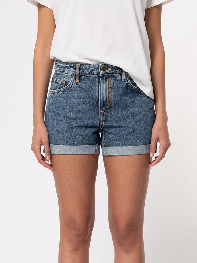 FRIDA DENIM SHORTS - BLUE FRIENDS