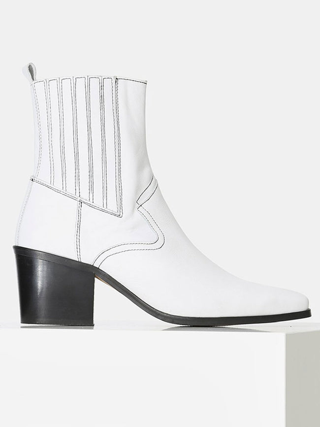 GEORGIA CHELSEA BOOT - WHITE
