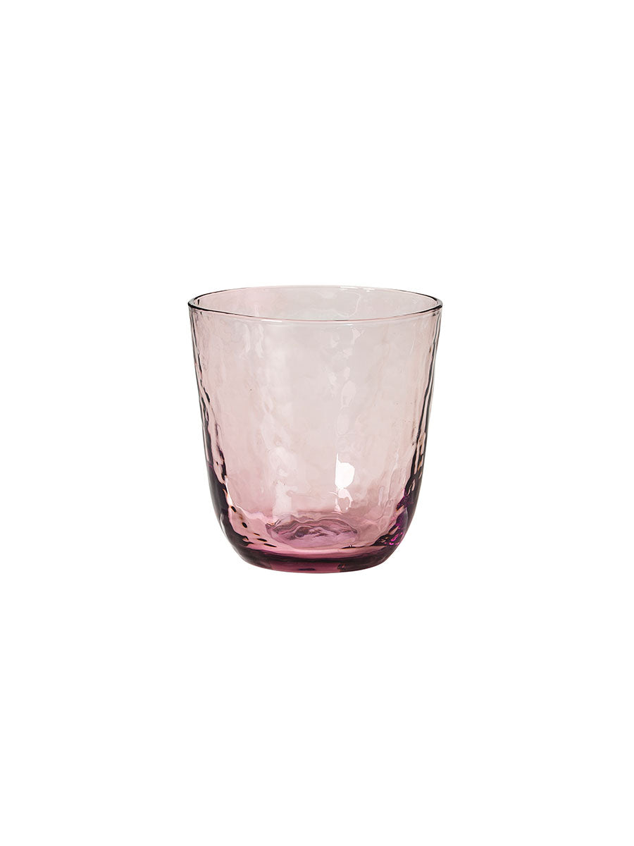 HAMMERED GLASS TUMBLERS SET OF 4