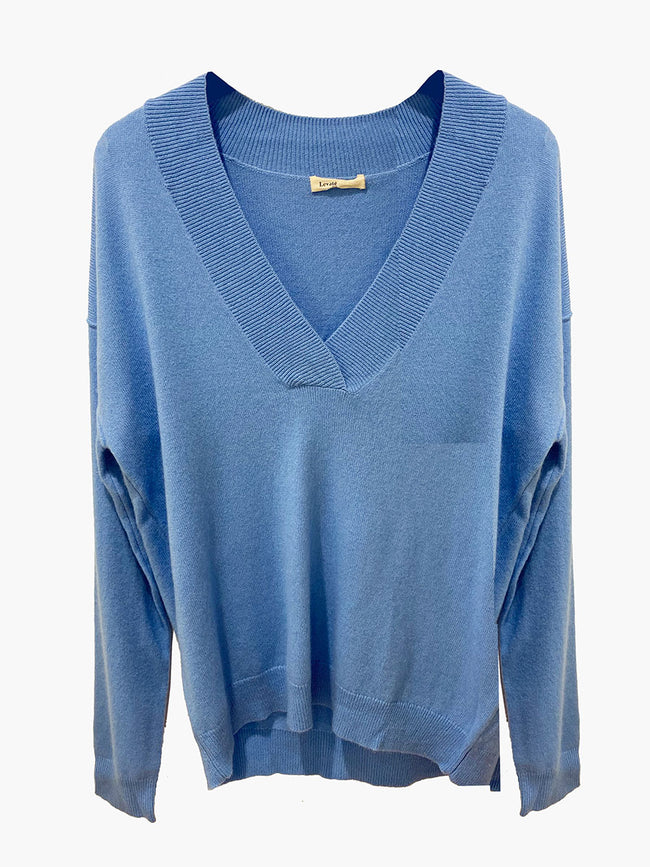 FUNDA 8 V-NECK JUMPER - LITTLE BOY BLUE
