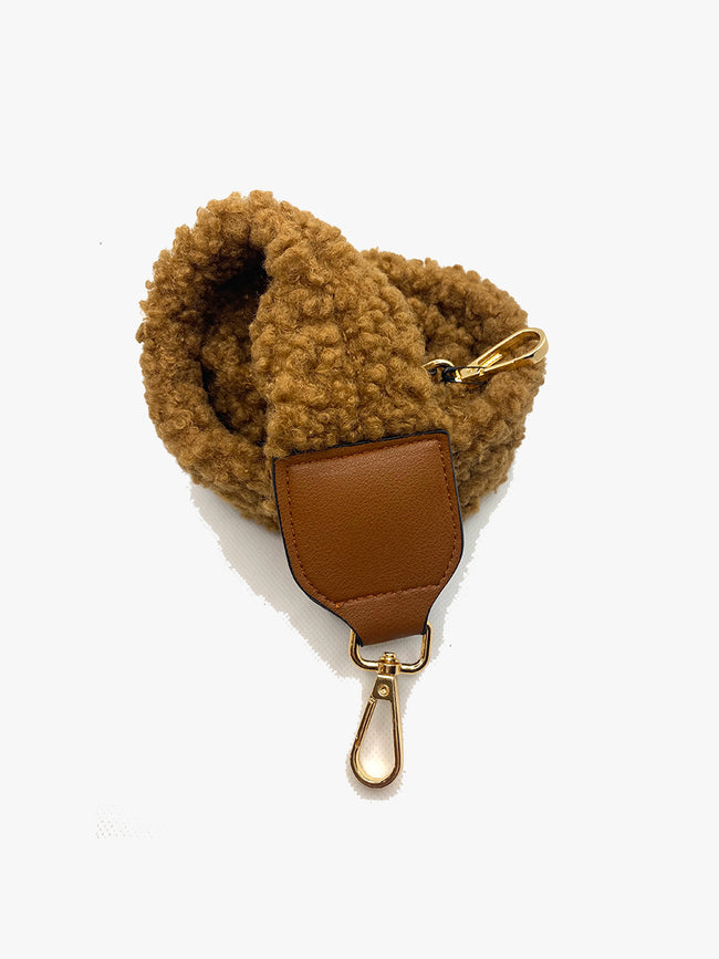 TEDDY BAG STRAP - CAMEL