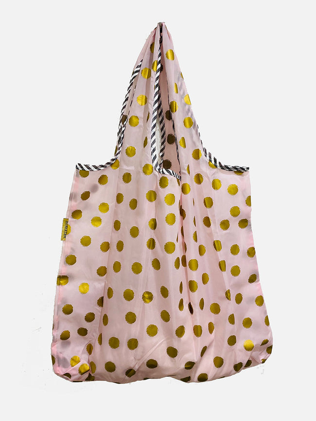 REUSEABLE SPOT SHOPPING BAG - PINK GOLD