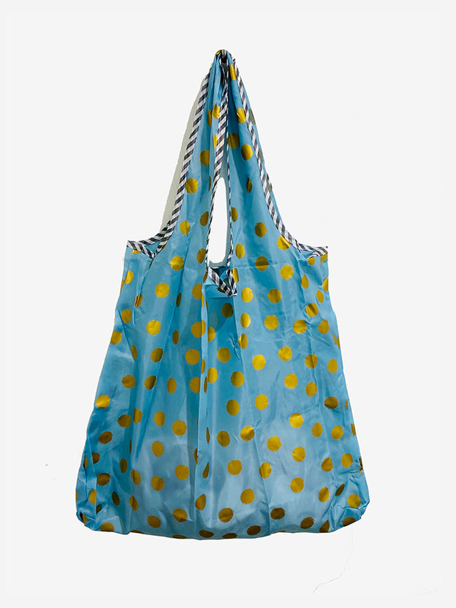 REUSEABLE SPOT SHOPPING BAG - BLUE GOLD