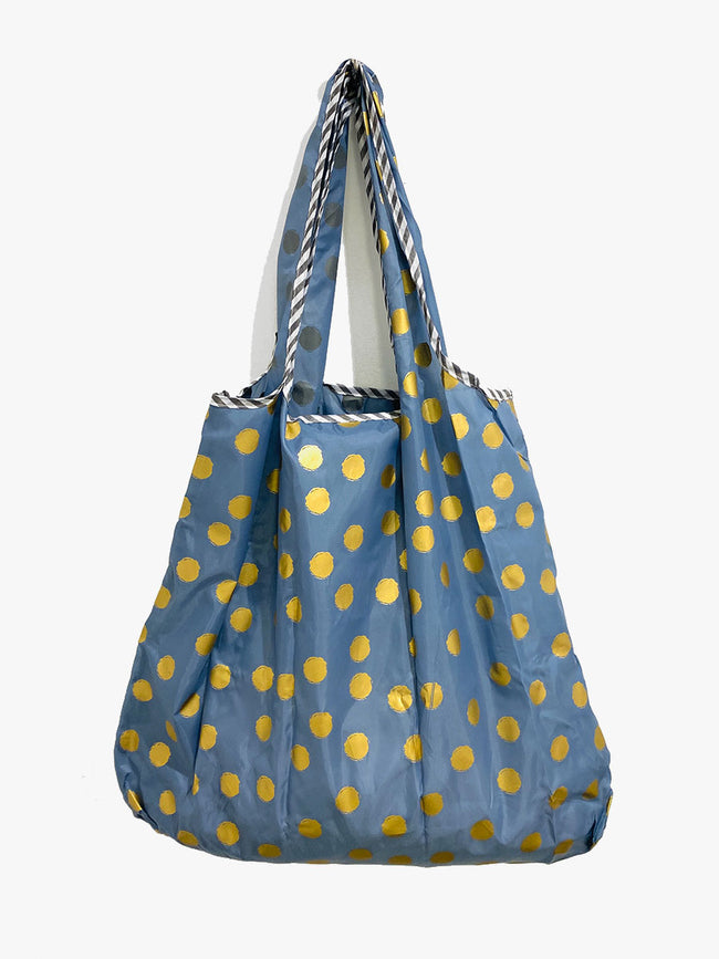 REUSEABLE SPOT SHOPPING BAG - NAVY GOLD