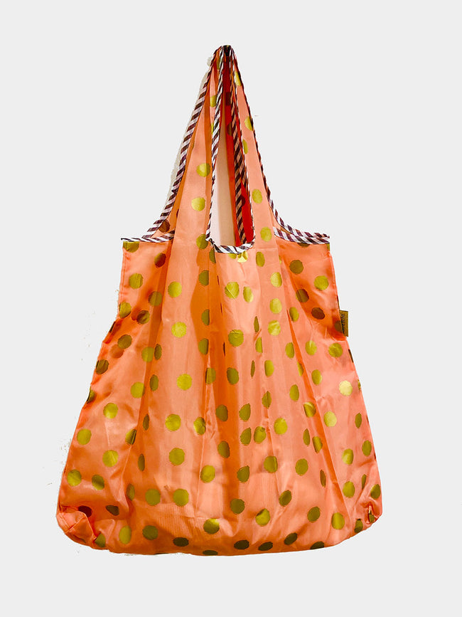 REUSEABLE SPOT SHOPPING BAG - ORANGE GOLD