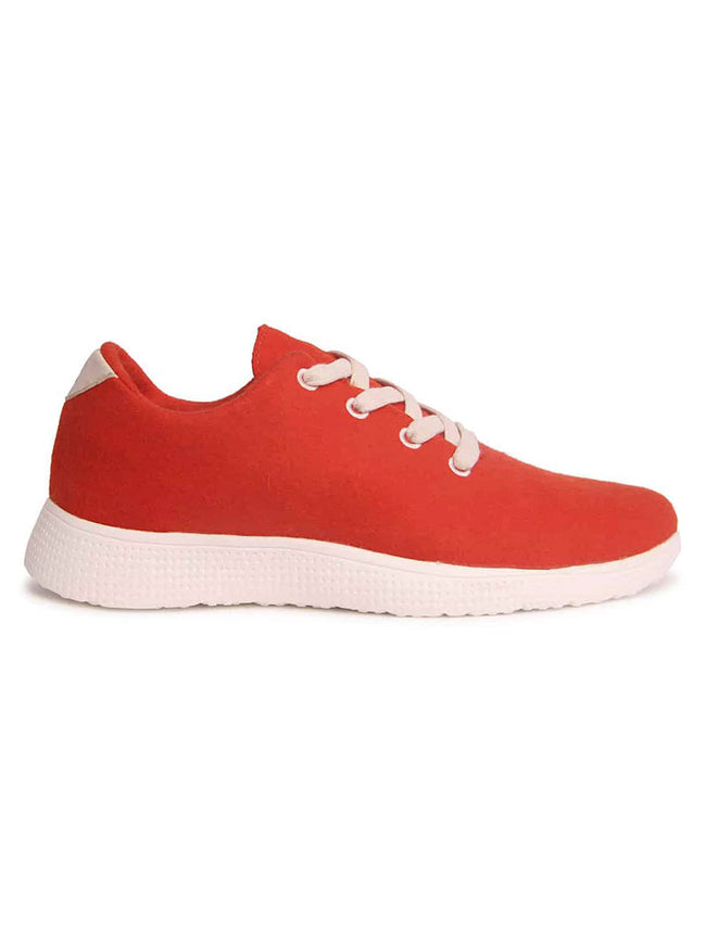 MERINO WOOL TRAINERS - RUSTY RED