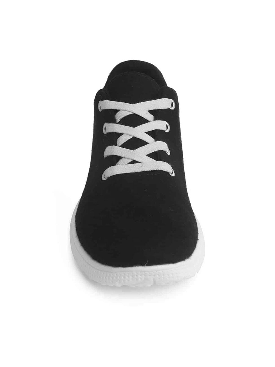 MERINO WOOL TRAINERS - BLACK