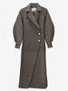 SLUB SUITING DRESS COAT