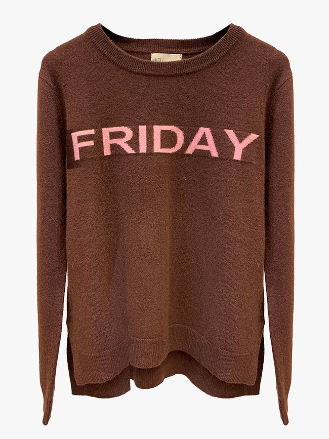 FRIDAY CASHMERE JUMPER - BROWN
