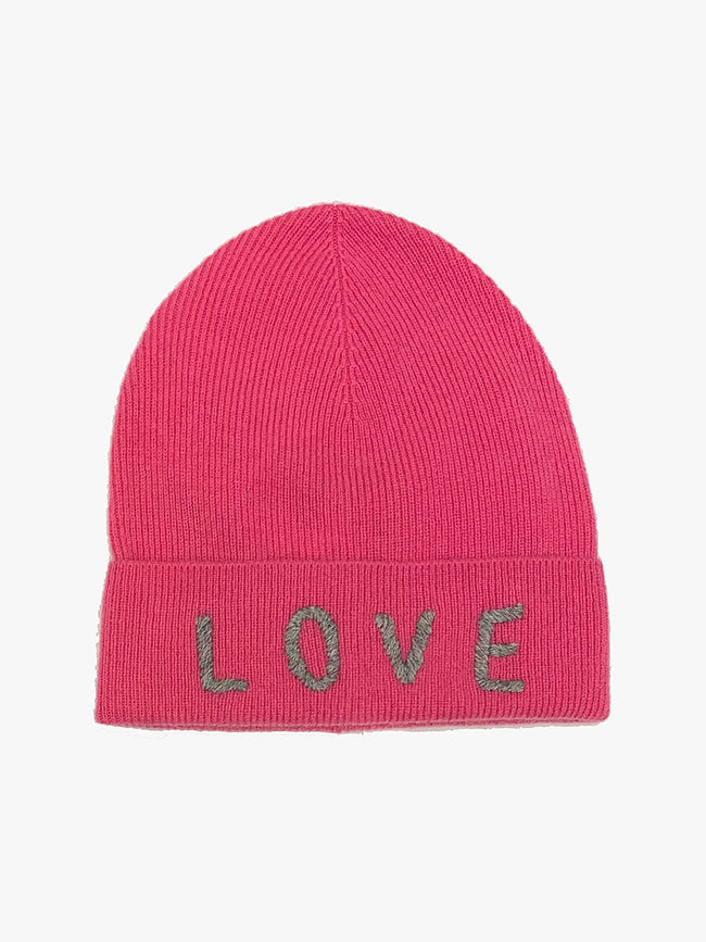 LOVE CASHMERE HAT - PINK