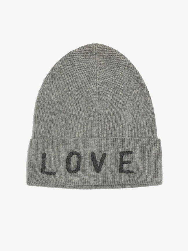 LOVE CASHMERE HAT GREY